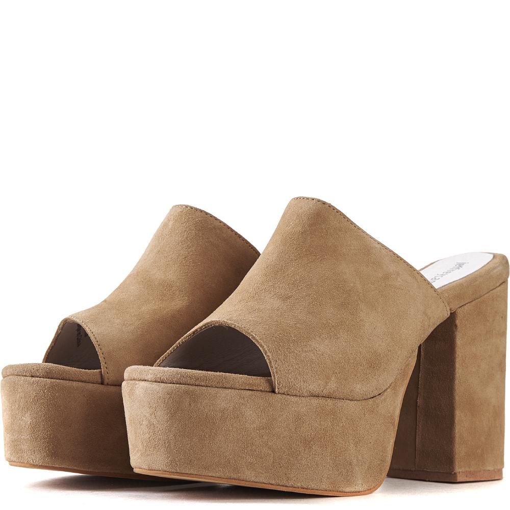 jeffrey campbell for women: pilar nude platform heels