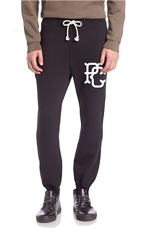 Image of The PC Campus Monogram Terry Joggers in Black
