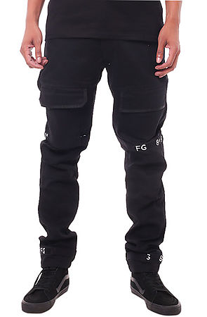 Image of Strapped Up Slim Utility Pant Black
