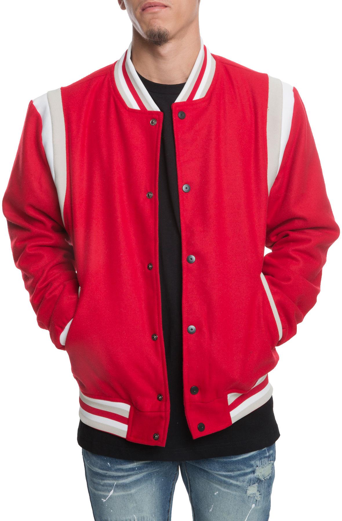 Image of The Westlake Varsity Jacket in Red