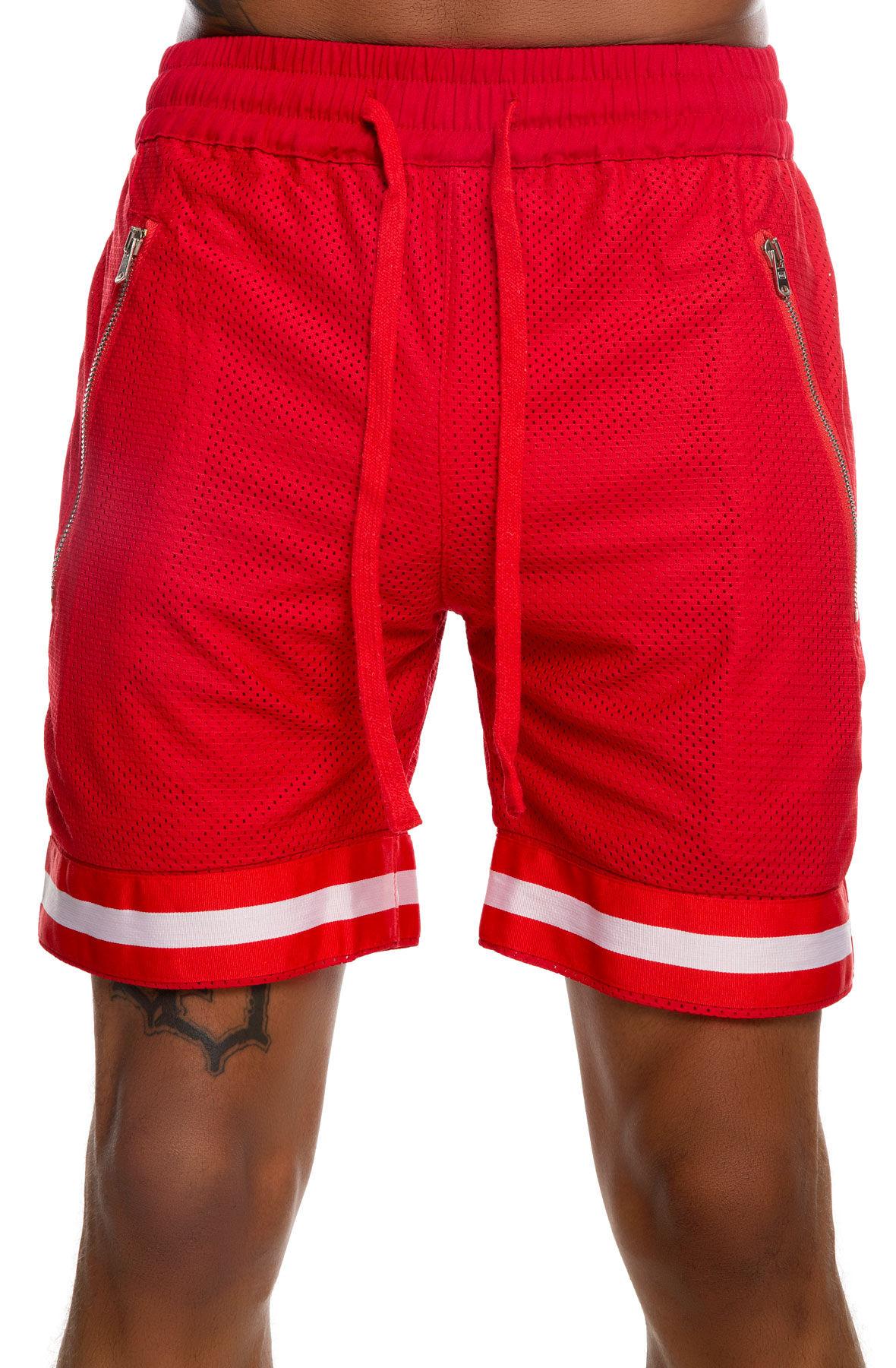 nokwal basketball shorts - red