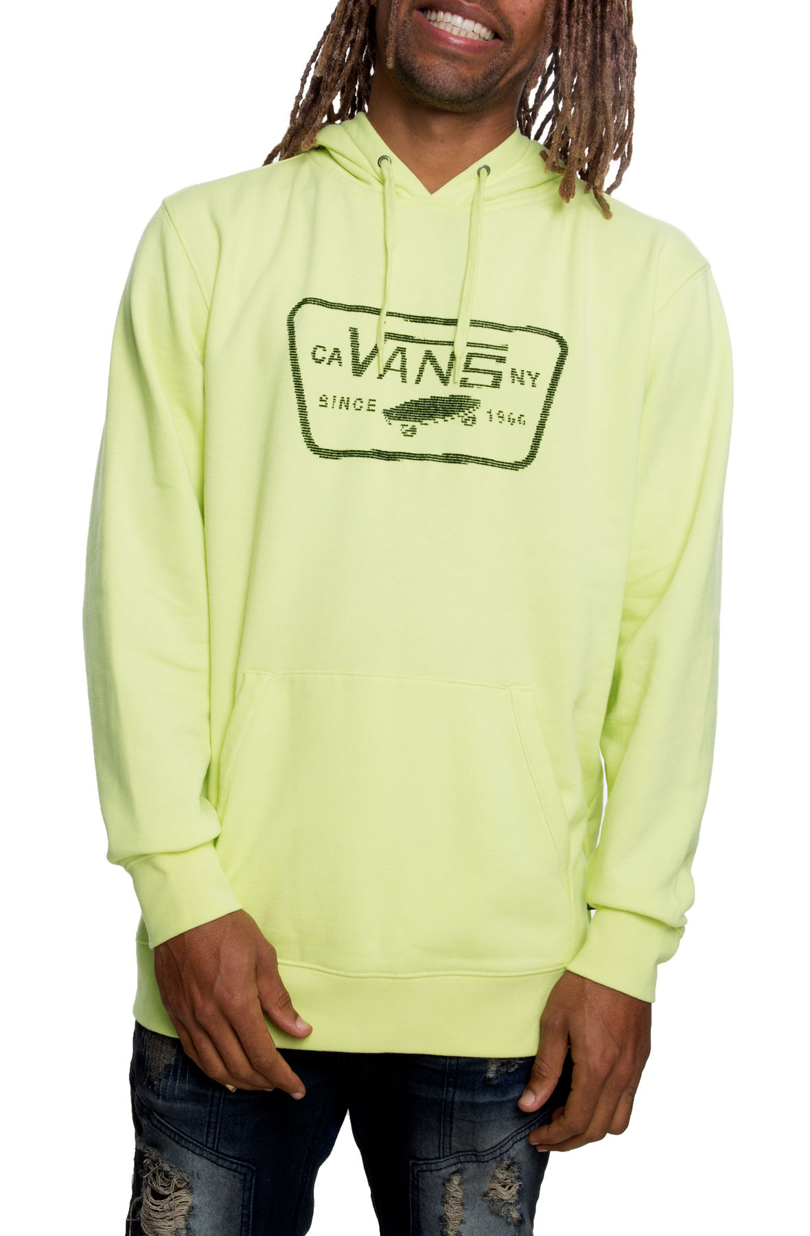 Image of The Coded Full Patch Pullover Hoodie in Sunny Lime