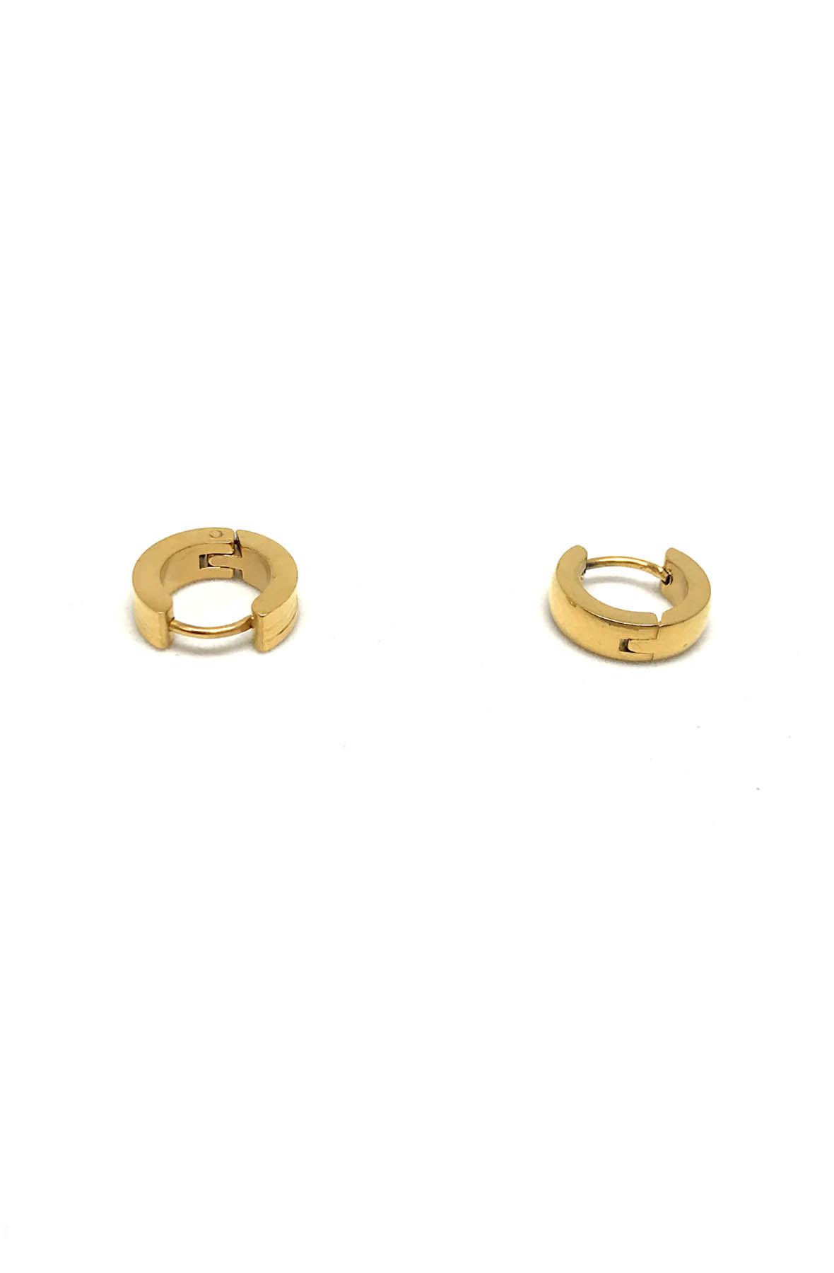 Gold Stainless Steel Hoop Earings