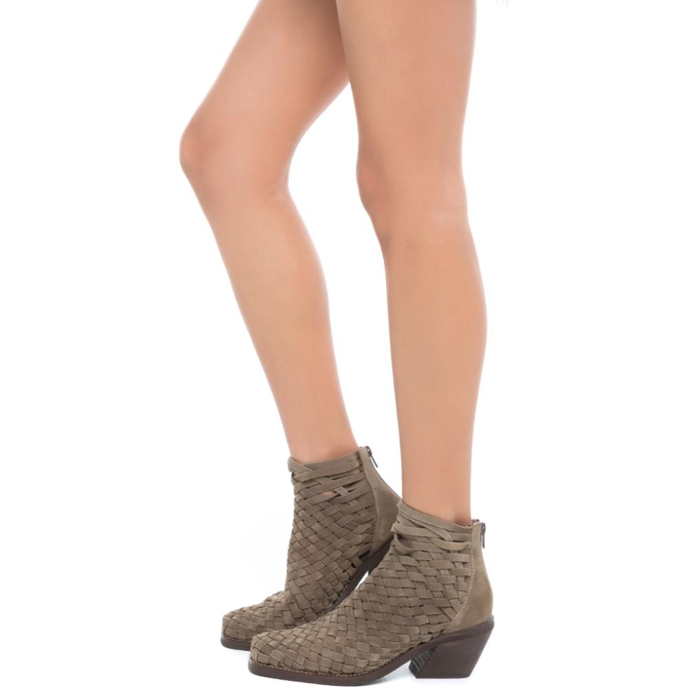 jeffrey campbell for women: surat taupe heel booties