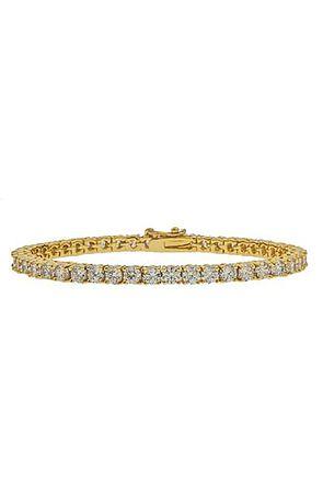 the mister crystal bracelet - gold
