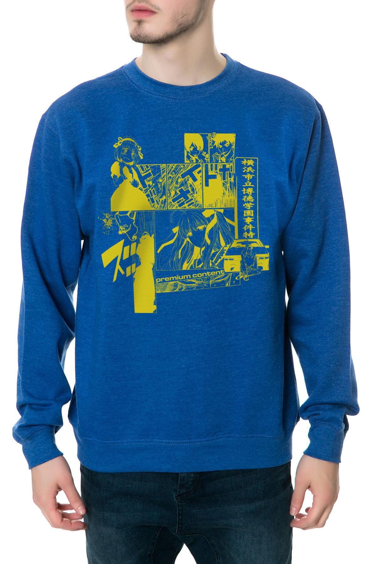 The Manga Crewneck Sweatshirt in Royal Blue