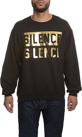 Image of The Silence is Golden Crew in Black