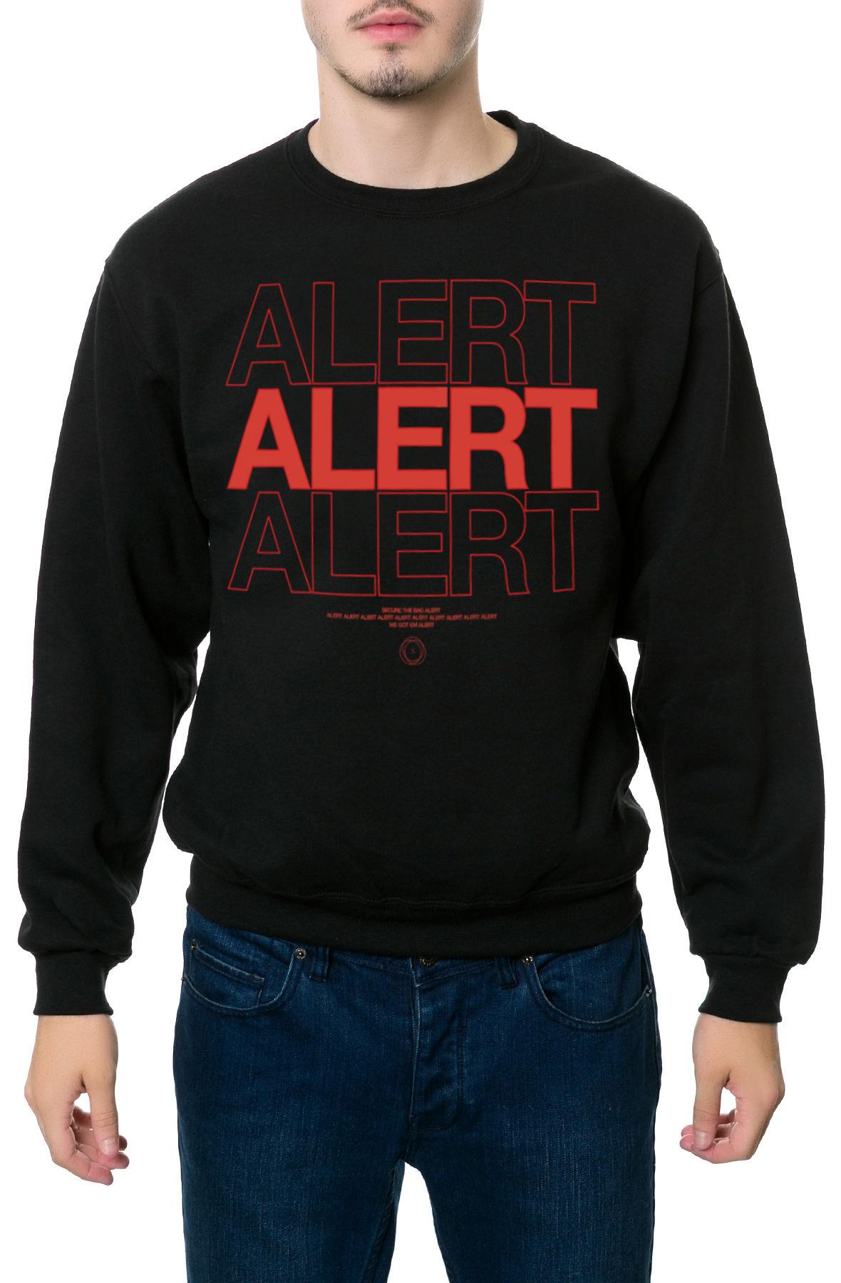 The Alert Crewneck Sweatshirt in Black