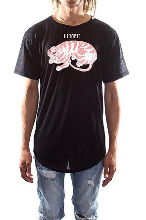 Hype Tiger Slit T-shirts Black
