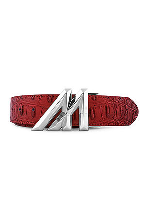 Image of Mint Croc Gem M Belt * Ruby / Platinum *