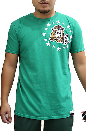 Image of Jesus Peace Shirt in Kelly Green