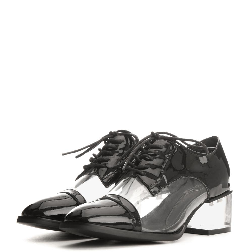 jeffrey campbell for women: egan-lh black heel bluchers