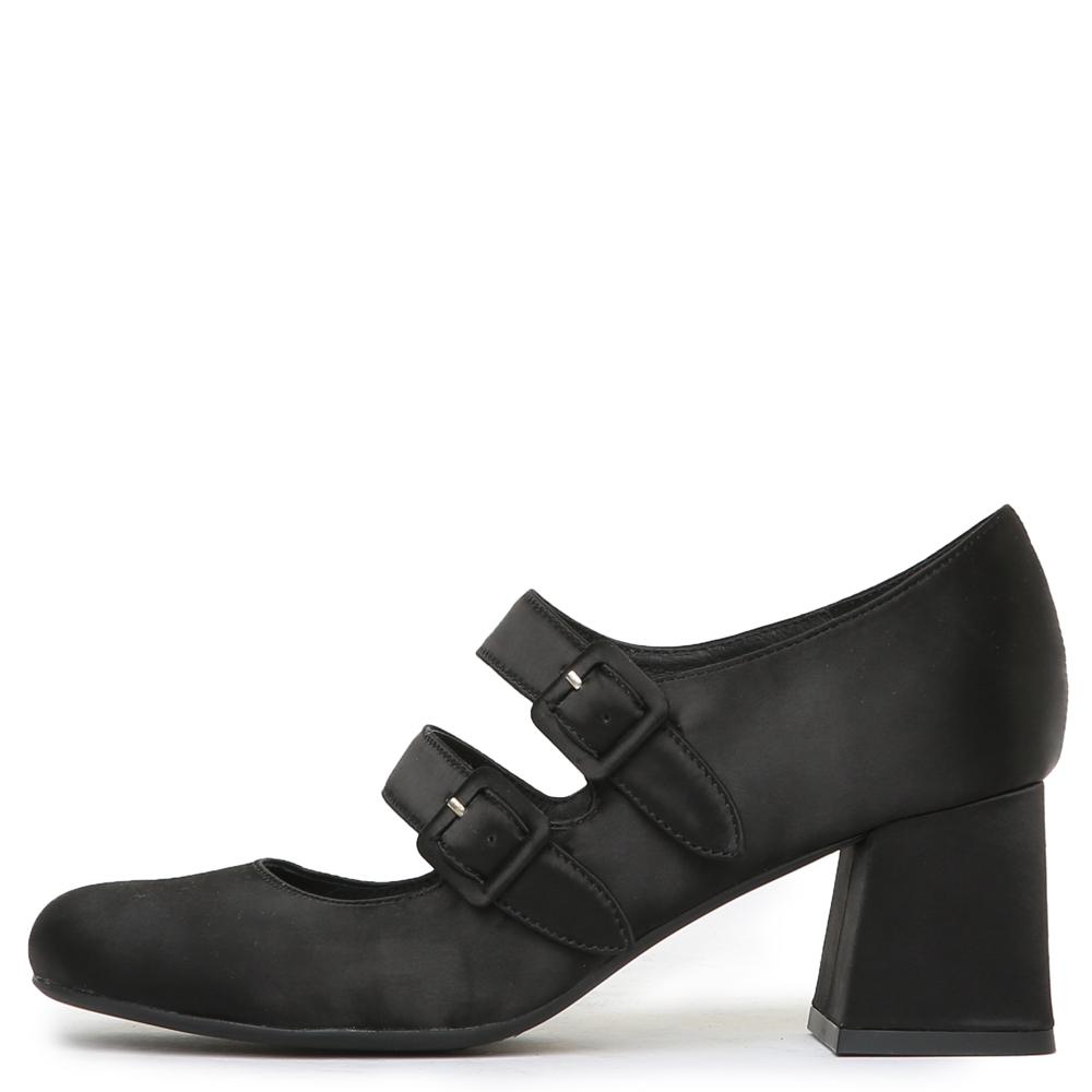 bickle black satin heels