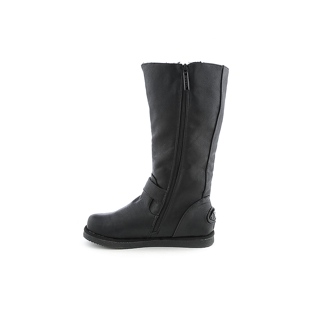 women's fur interior boot urban buckle