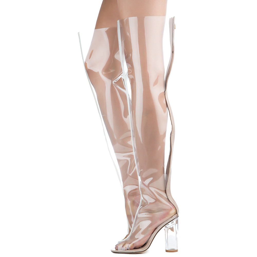 Image of Women's Transparent Thigh High Boot