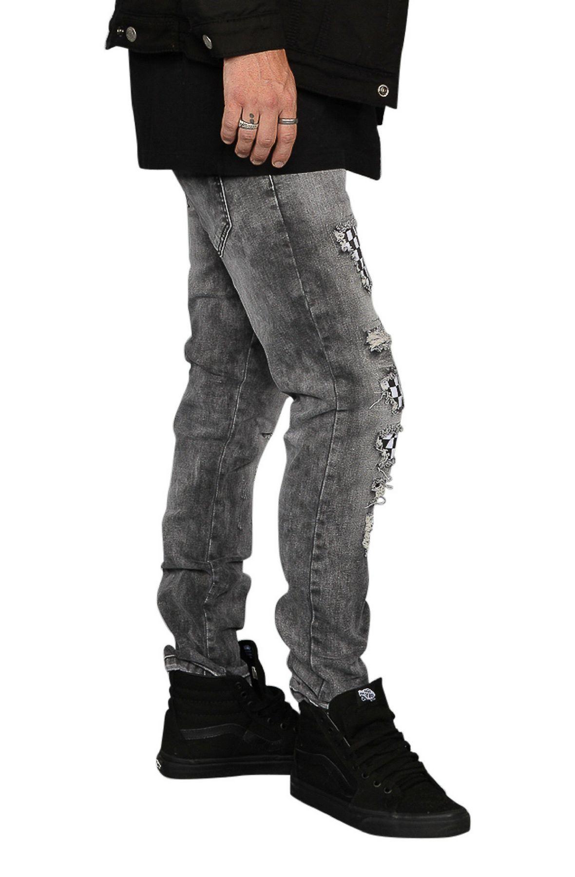 Image of The Seena Distressed Skinny Jeans in Black
