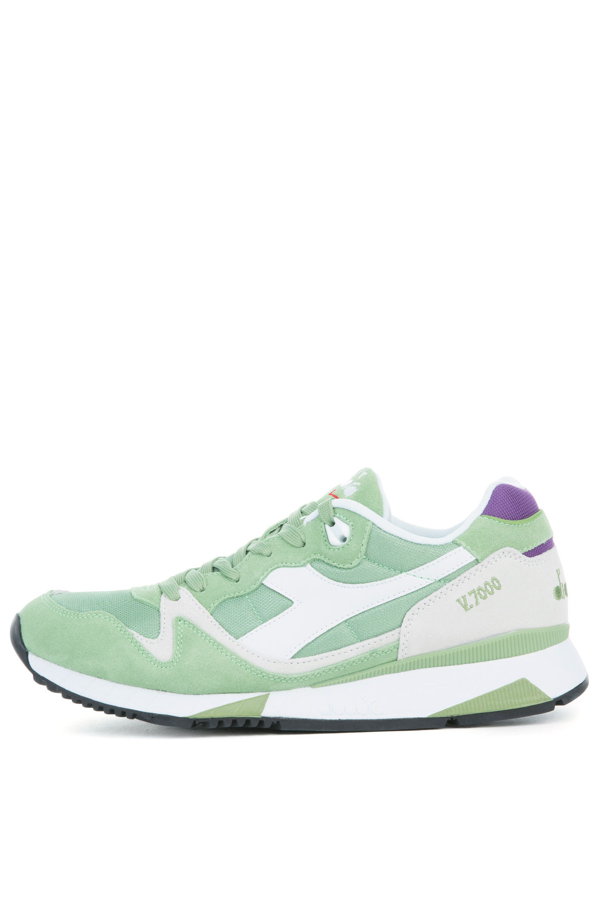 Image of The V7000 NYL II Sneaker in Forest Shade and Amaranth Purple