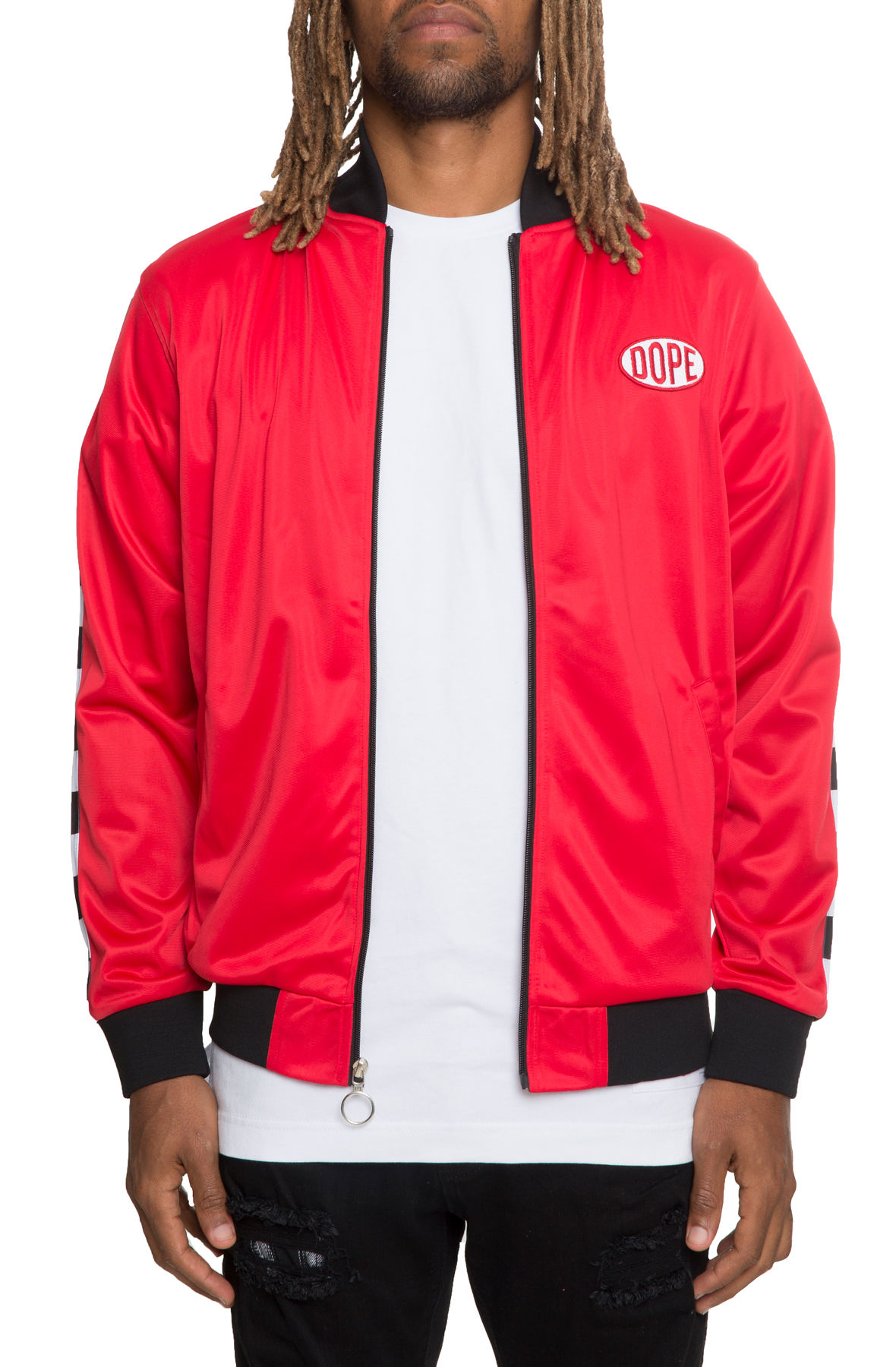 The Brickyard Jacket in Red