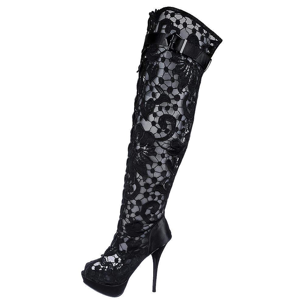 women's thigh high boot wissper