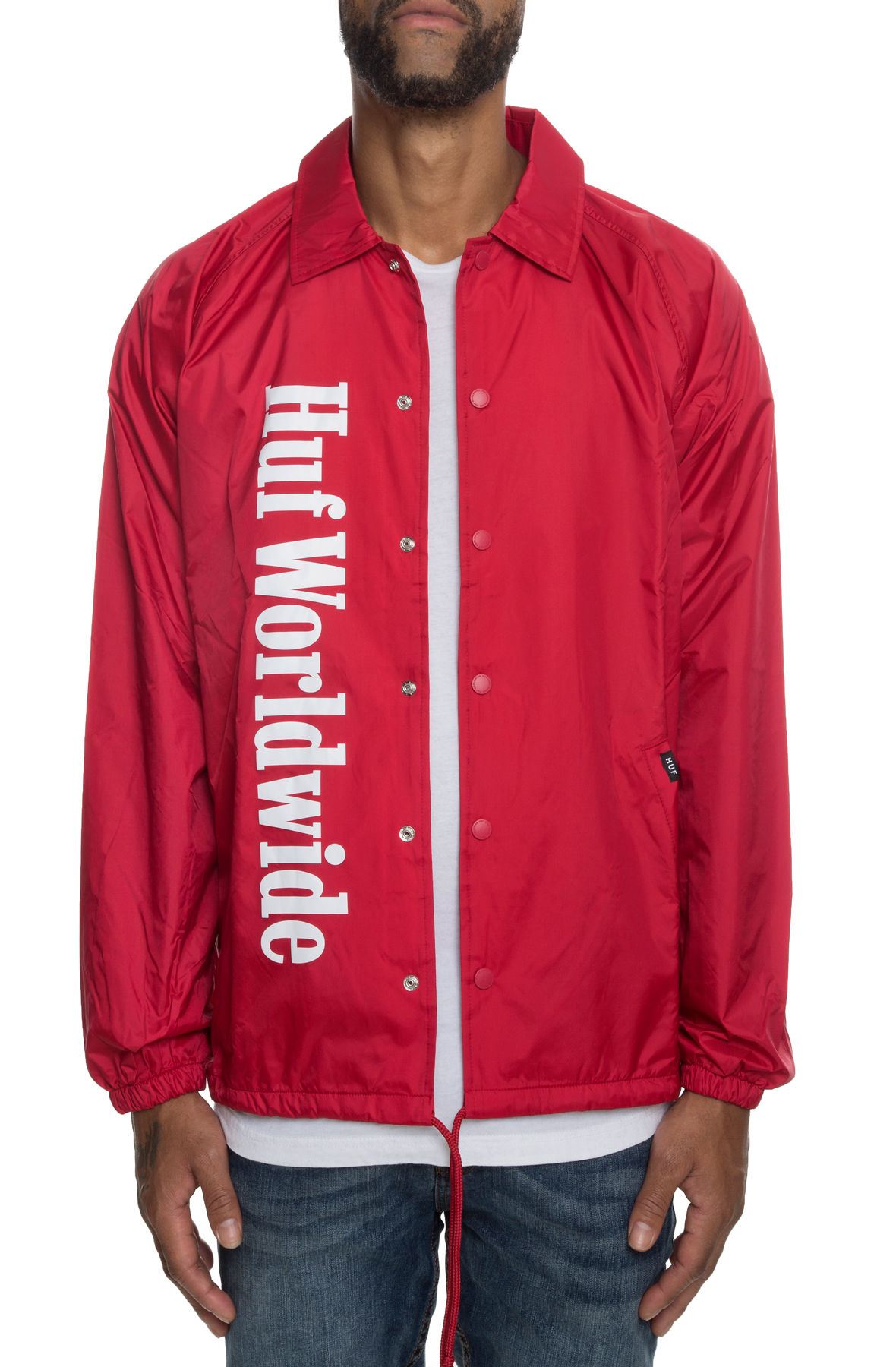 The Huf Country Coaches Jacket in Red