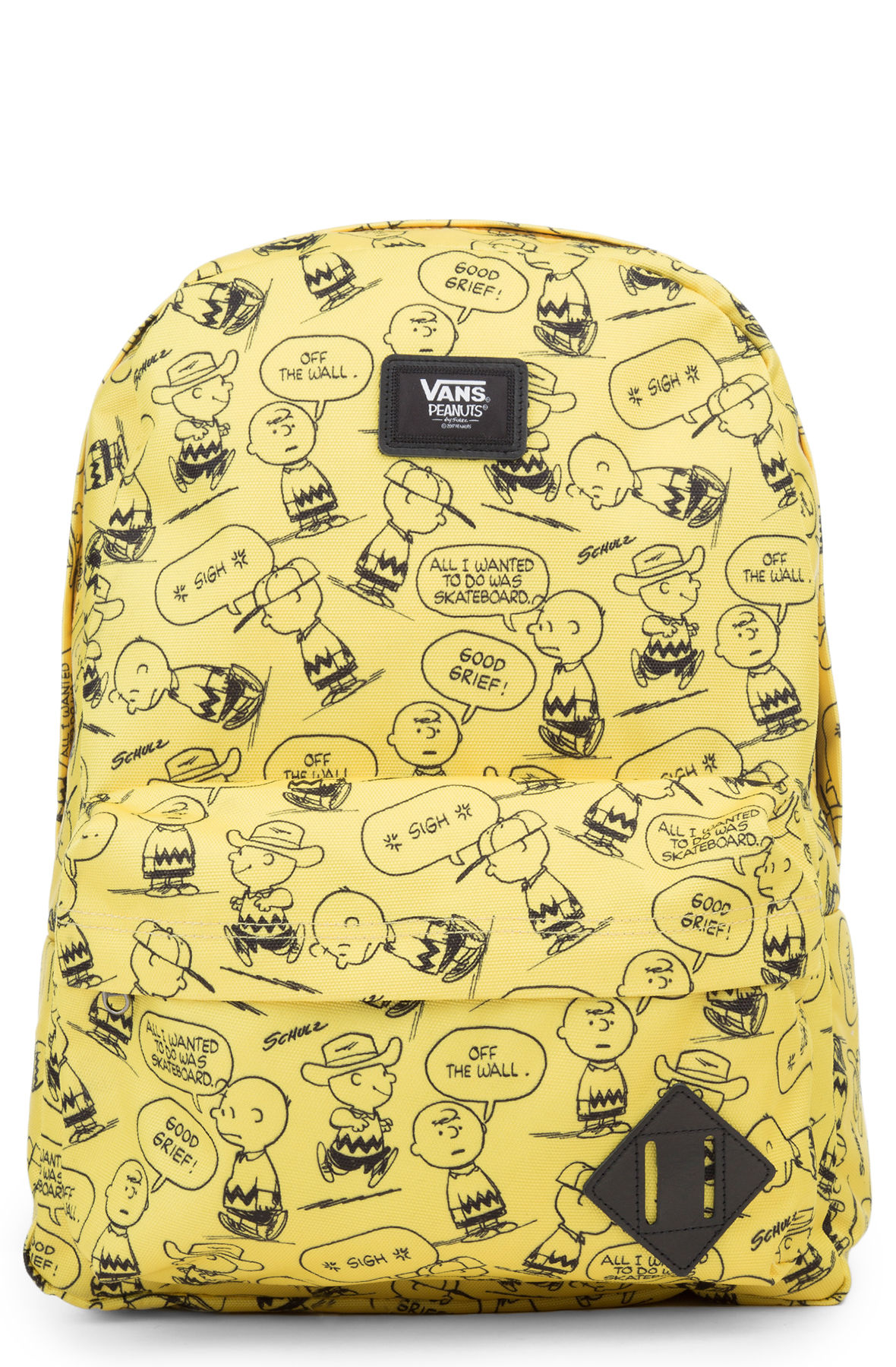 b91ab21cf12d47 VANS Backpack x Peanuts Charlie Brown Old Skool II Yellow