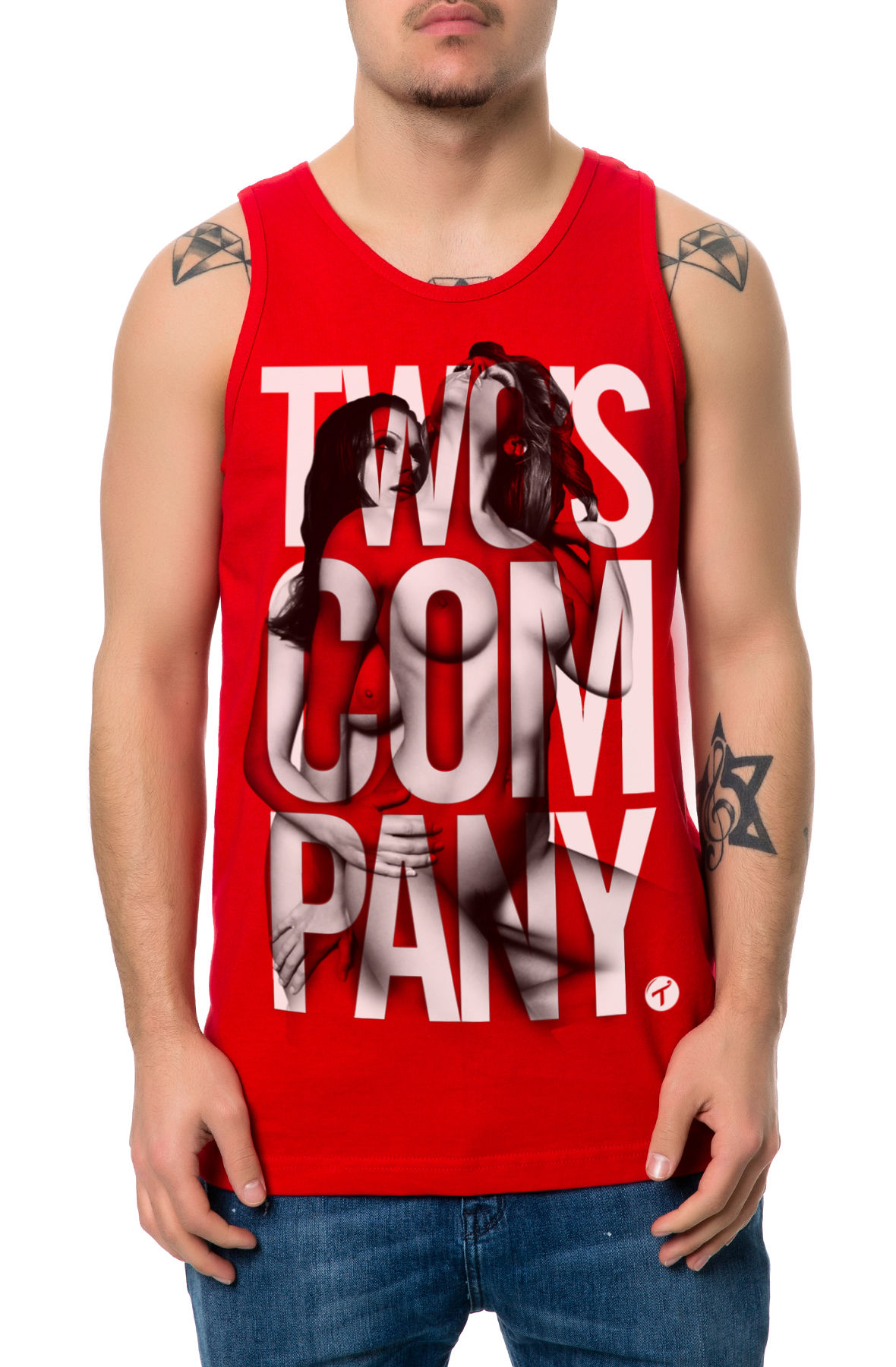 Image of The Two's Company Tank Top in Red