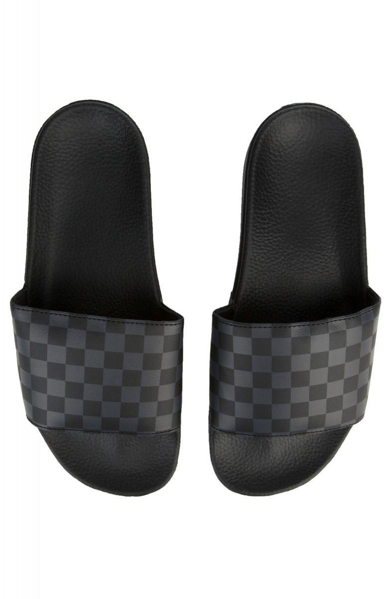 a277747733f1 Vans Slides Black Asphalt Checkerboard black