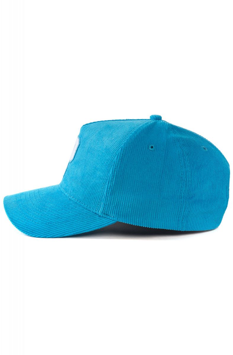 18daae547af Pink Dolphin Hat Pastel P Corduroy Snapback Cyan Blue