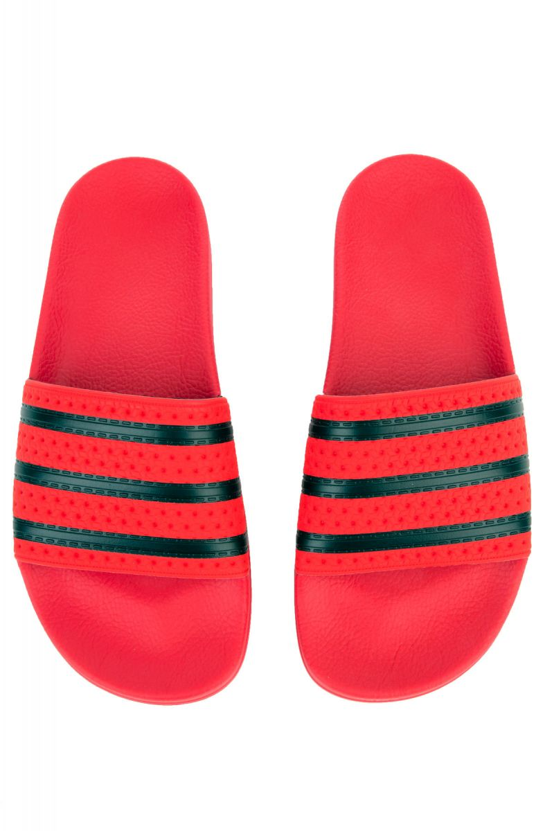 buy popular b5183 3162a Adidas Slides Adilette Slide Red Black