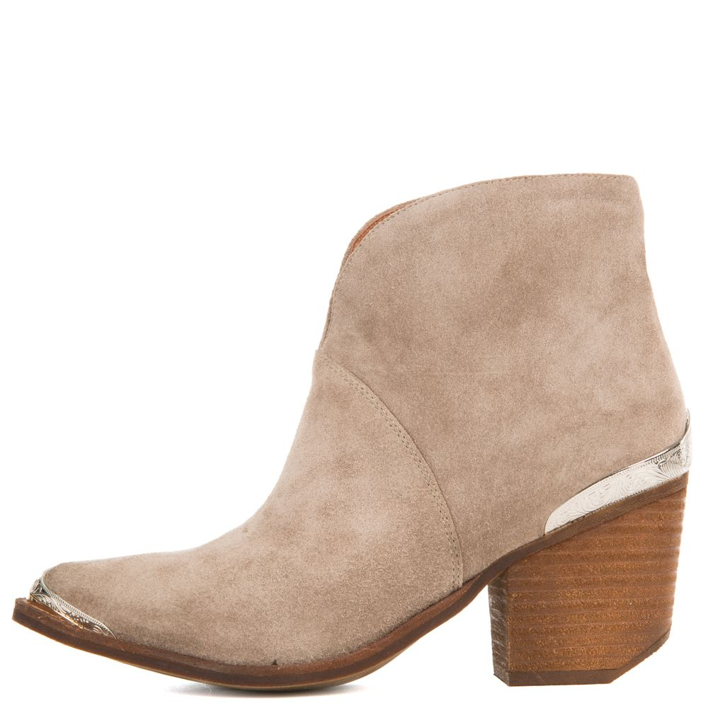 newest 79a0f a4762 Jeffrey Campbell for Women: Cahuenga Taupe Western Booties