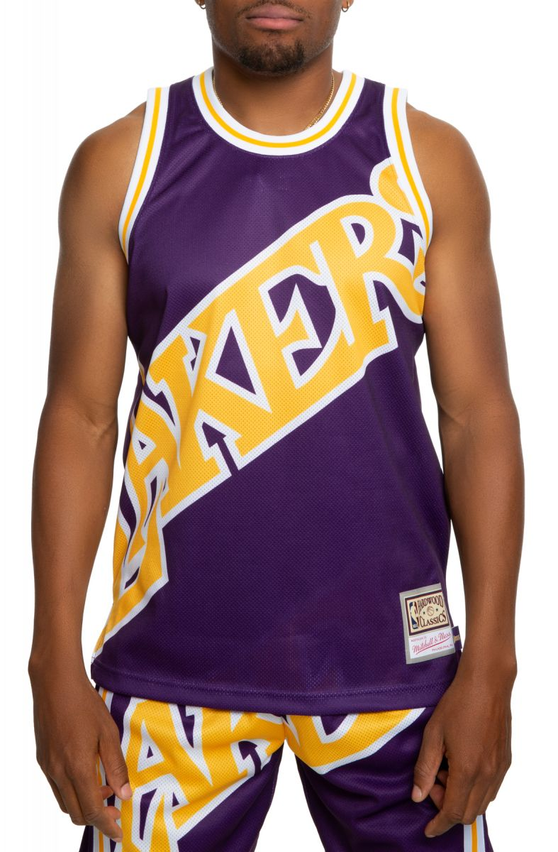 Mitchell /& Ness Los Angeles Lakers Big Face NBA Jersey