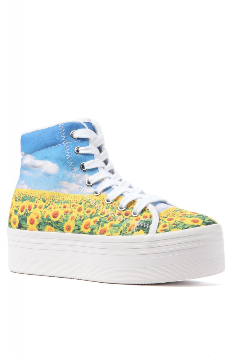 Jeffrey Campbell Sneaker Homg In Sunflower