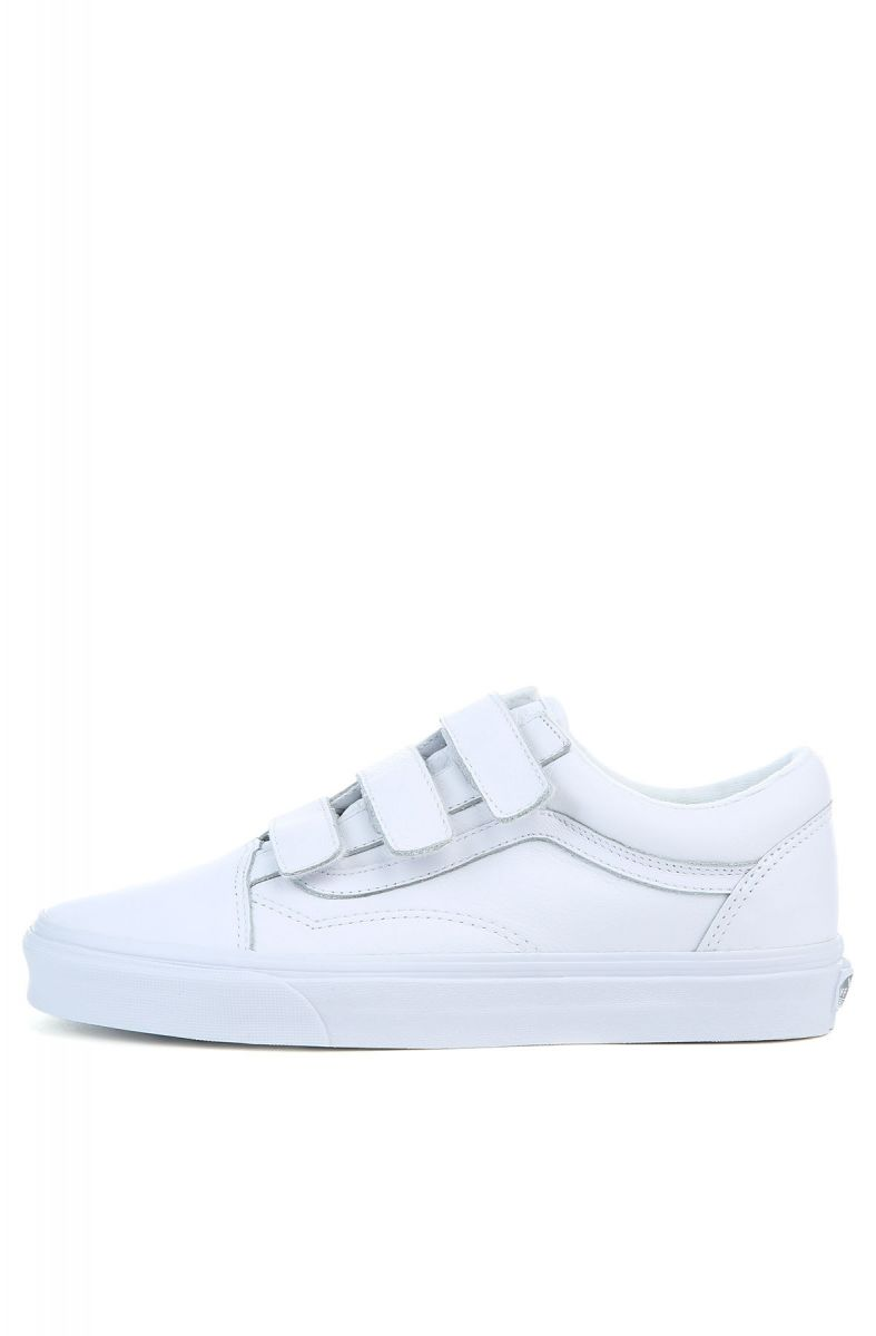The Men's Mono Leather Old Skool V in White