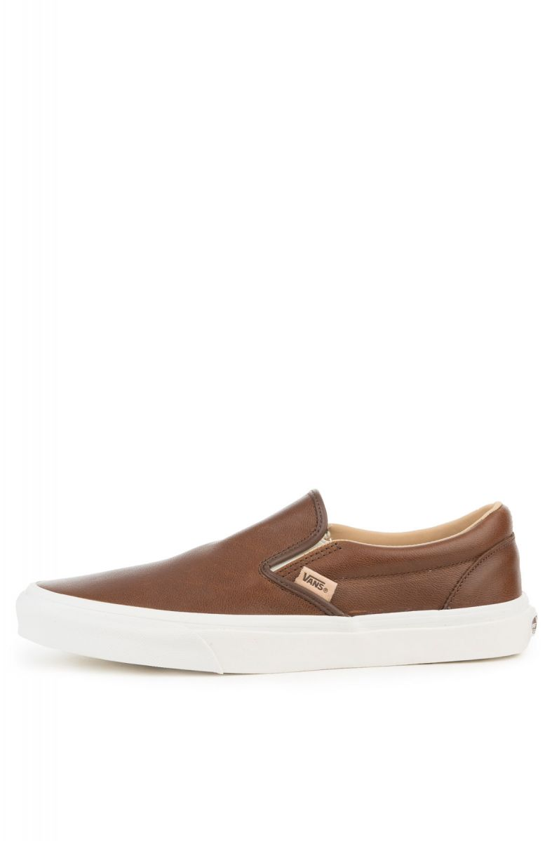 The Classic Slip-On Lux Leather in Shaved Chocolate and Porcini c47fa9087