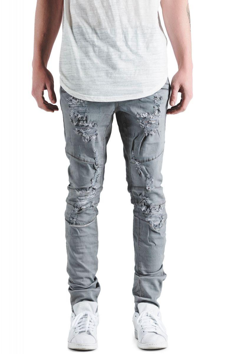 crysp denim jeans montana distressed light grey