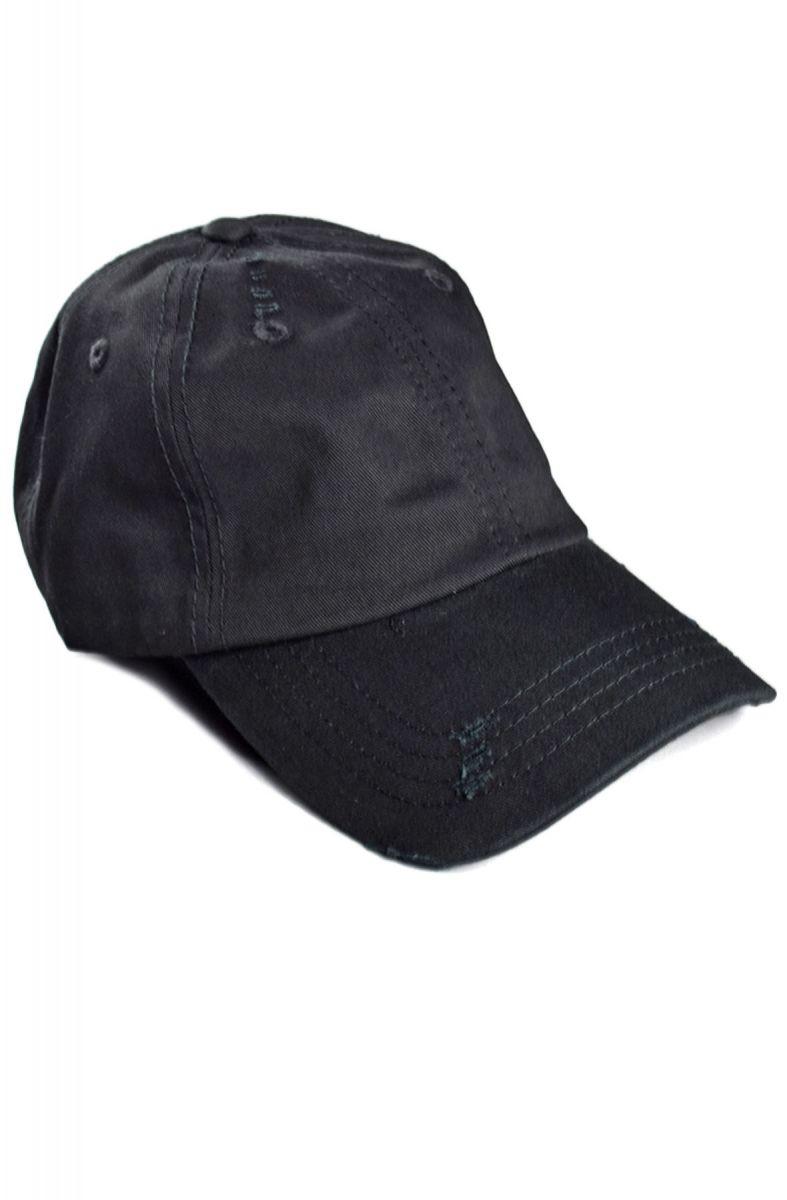 5033a133 enslaved Hat Ripped Strapback Black