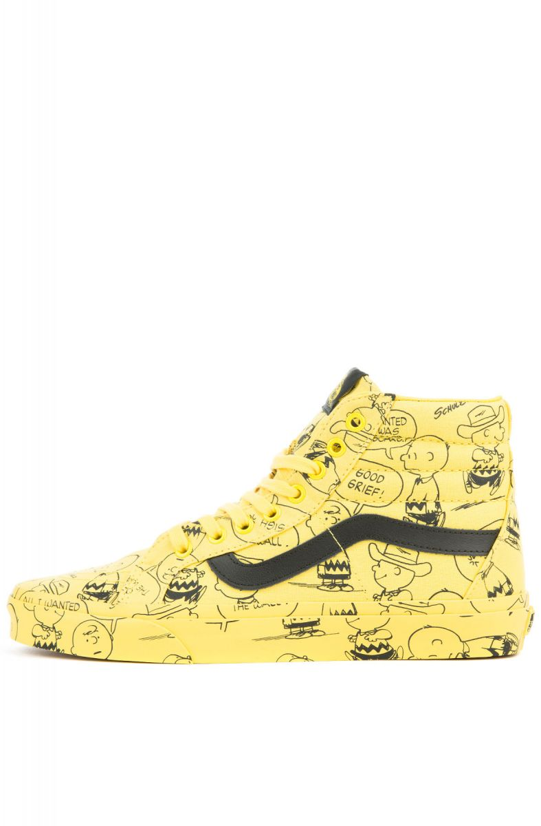 df9926fe97 The Vans x Peanut Sk8 Hi Reissue Charlie Brown in Maize