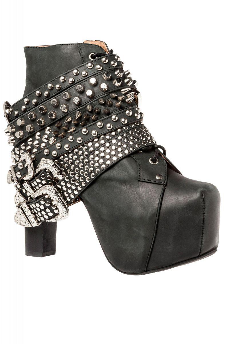 4c7d5435442 Jeffrey Campbell Shoe The Lita Strap in Black