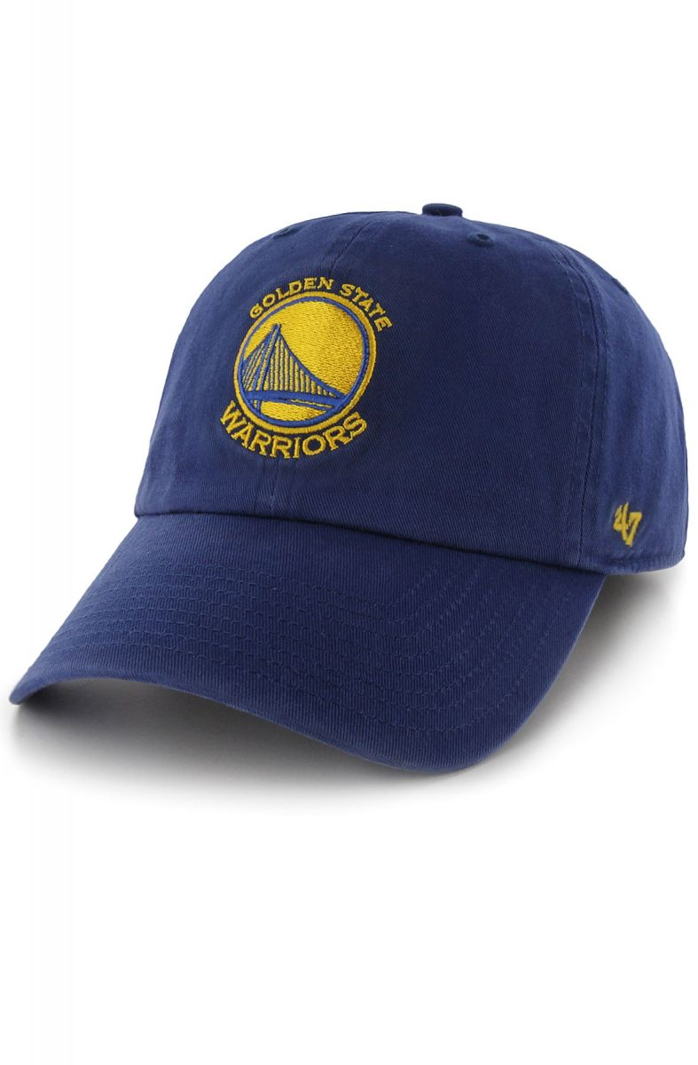 bb60d0ad19bb4 47 Brand Hats Hat Golden State Warriors Royal Clean Up 47 Clean Up Blue