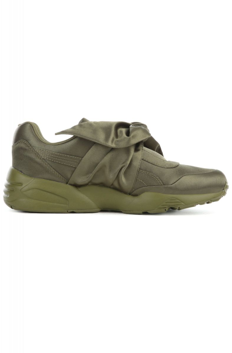 new arrival 4c3e9 d6185 The Puma x Fenty by Rihanna Bow Sneaker in Olive Branch