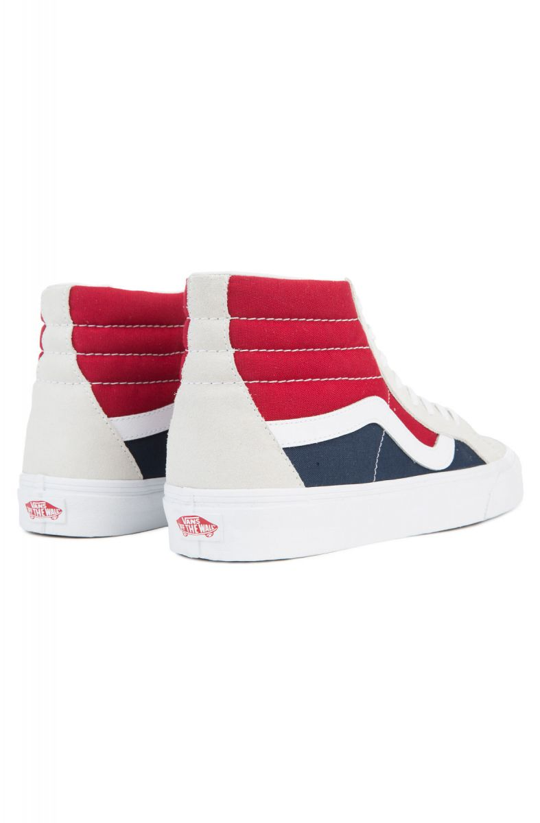 8987feb8db Vans Sneaker Men s Sk8-Hi Reissue Retro Block White Red Dress Blues