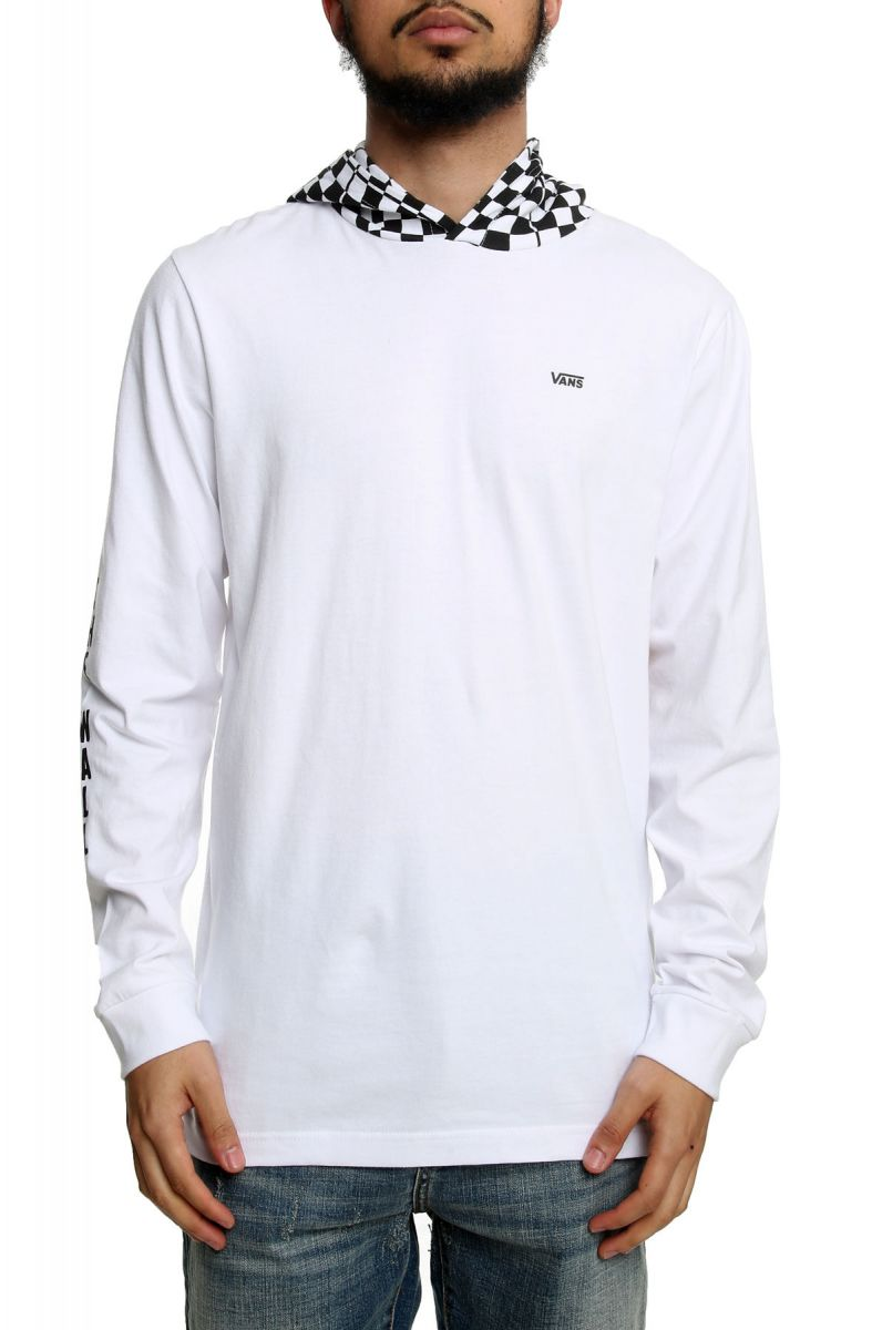 5414075d90 The Men s Van Doren Hooded Tee in White Checkerboard