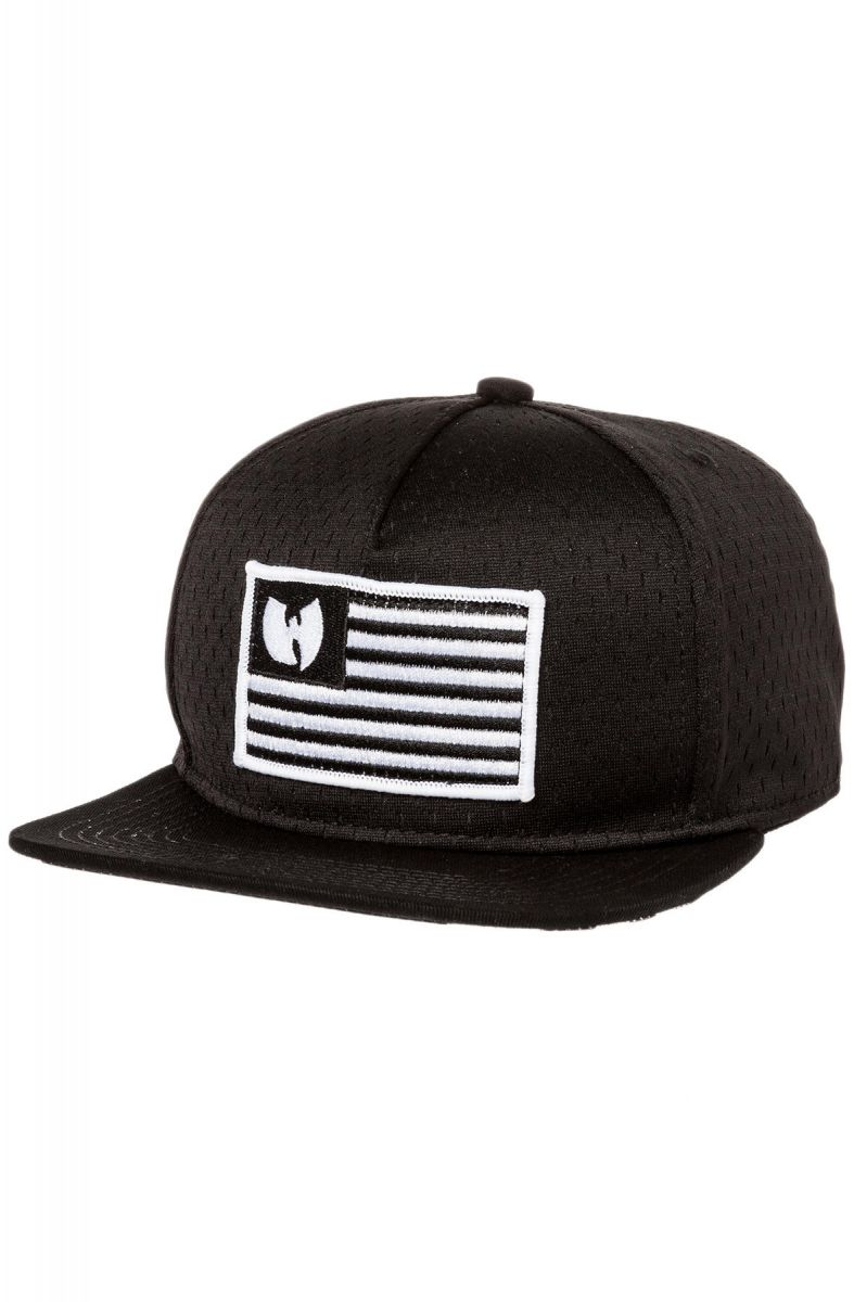 888fa2ff4e596 Wutang Brand Limited Hat The Iron Flag Mesh Snapback in Black