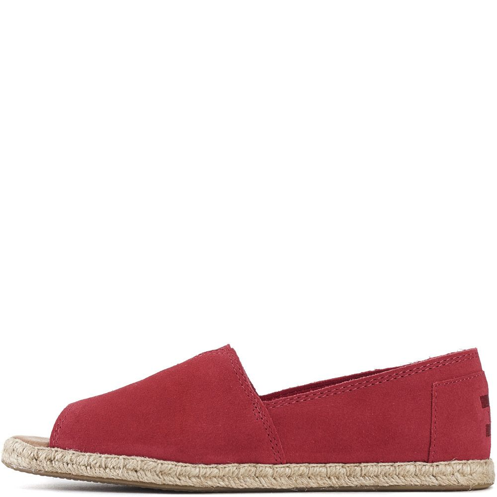 1f96fea0ef70 Toms for Women  Raspberry Suede Open Toe Alpargatas