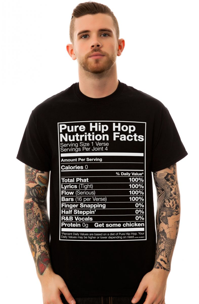 d0659b0b5 The Hip Hop Nutrition Facts Tee in Black