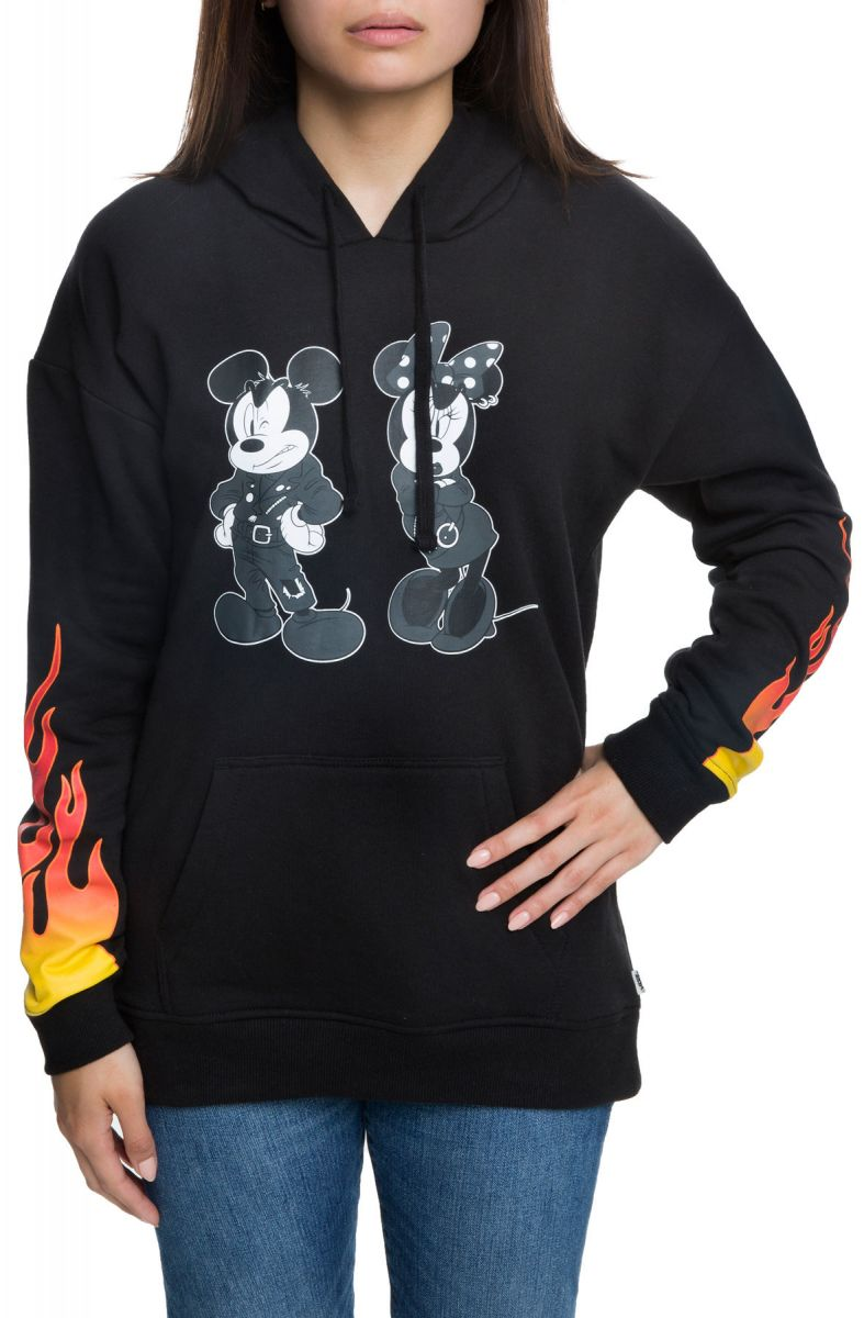 cc90f2757a357a The Punk Mickey and Minnie Pullover Hoodie in Black