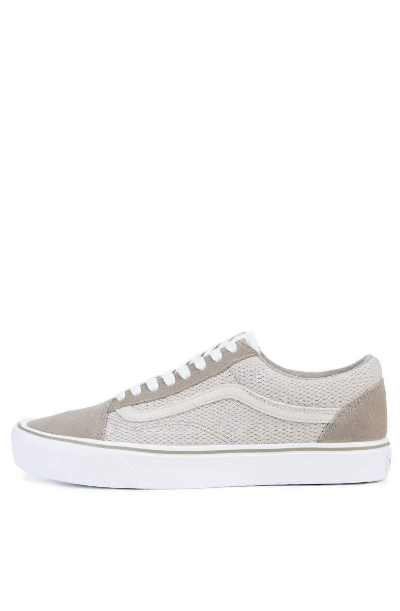 Vans Sneakers Men s Old Skool Lite Mesh in Fallen Rock and Silver ... ff1790b2f