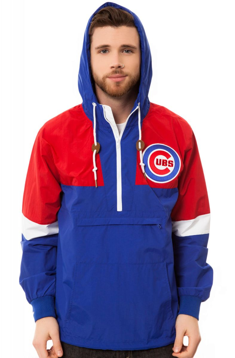 uk availability d83bc 43d09 The Chicago Cubs Half Zip Windbreaker in Blue