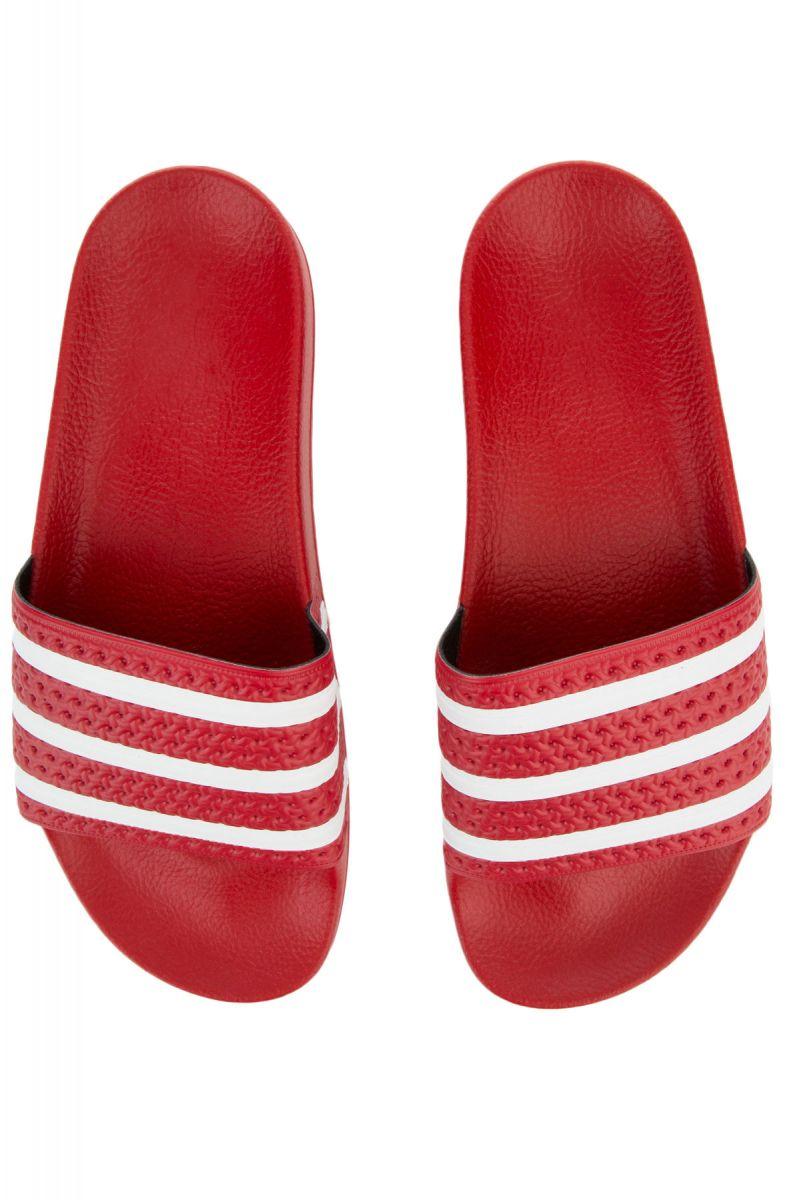 1d79ea3e8d51 Adidas Slides Adilette Light Scarlet and White