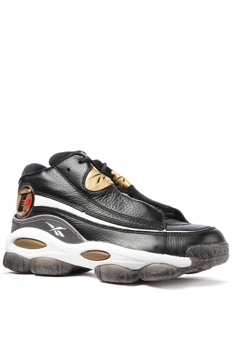 newest 449fd e9dc7 Reebok Sneaker The Answer DMX 10 in Black, White, Metallic Gold and Red